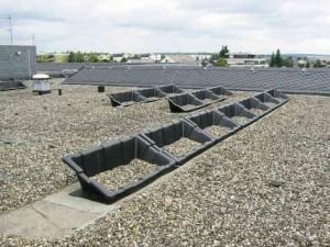 Photovoltaikanlage Kies Befestigung Wanne