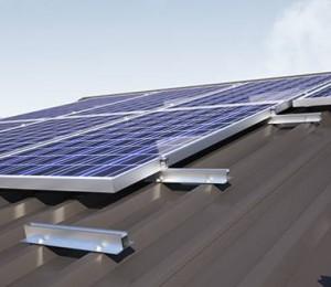 Trapezdach Befestigung Photovoltaikanlage